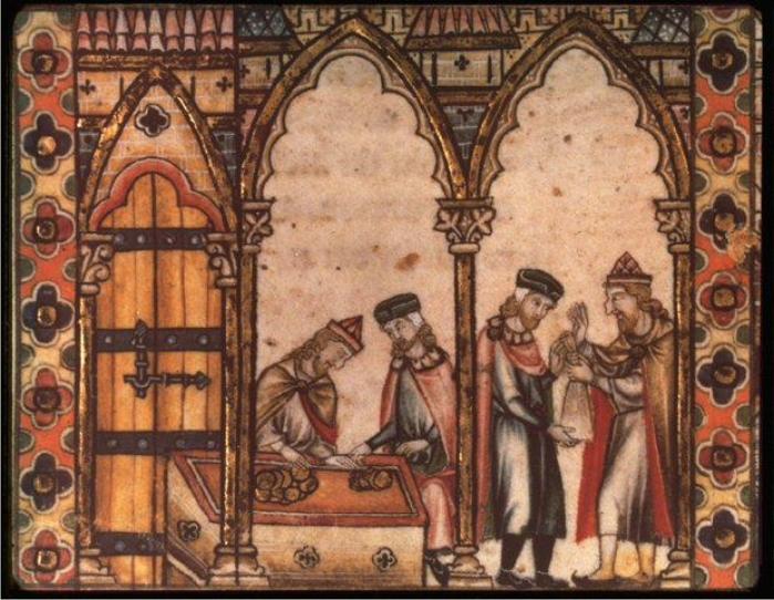 Prestamistas judíos en la Francia medieval. (DP)