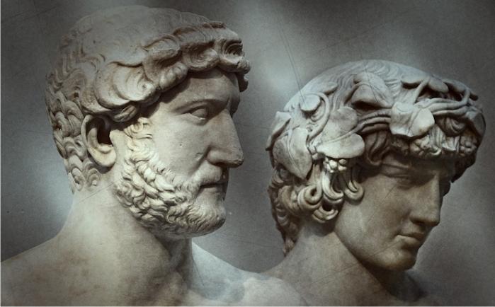 Adriano y Antinoo. Imagen: DP.