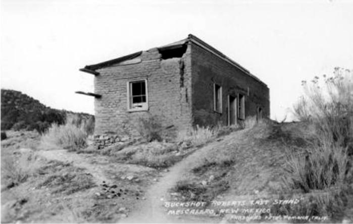 La casa donde Buckshot Rogers resistió hasta el final. (foto: DP)