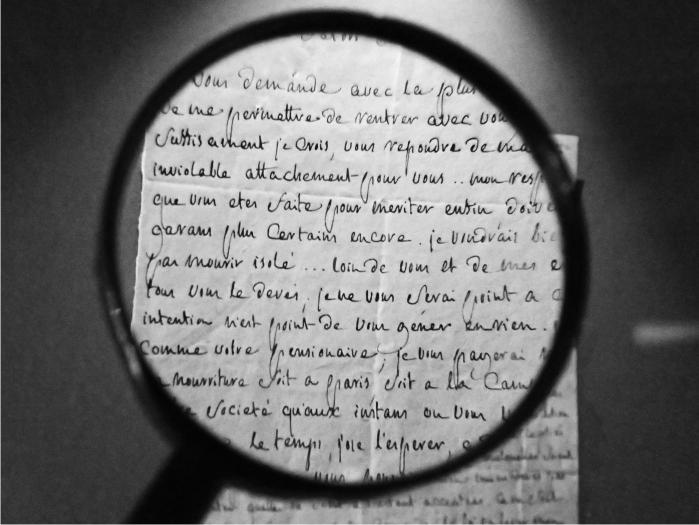 Carta manuscrita de Sade a Renée-Pélagie (1799). Imagen: DP.