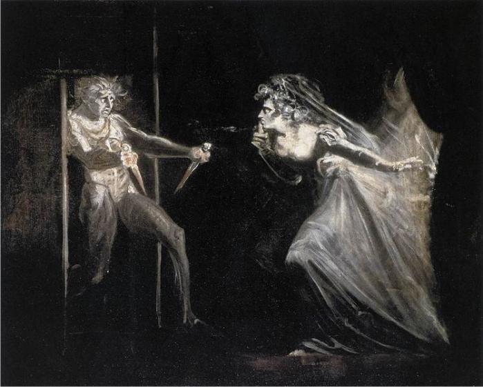 Lady Macbeth con dagas, por Heinrich Füssli (DP)