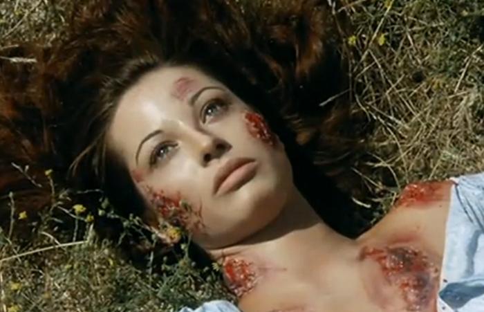 """Maria Elena Arpón en """"La noche del terror ciego"""", de Armando de Ossorio, 1973. (Imagen: Plata Films)"""