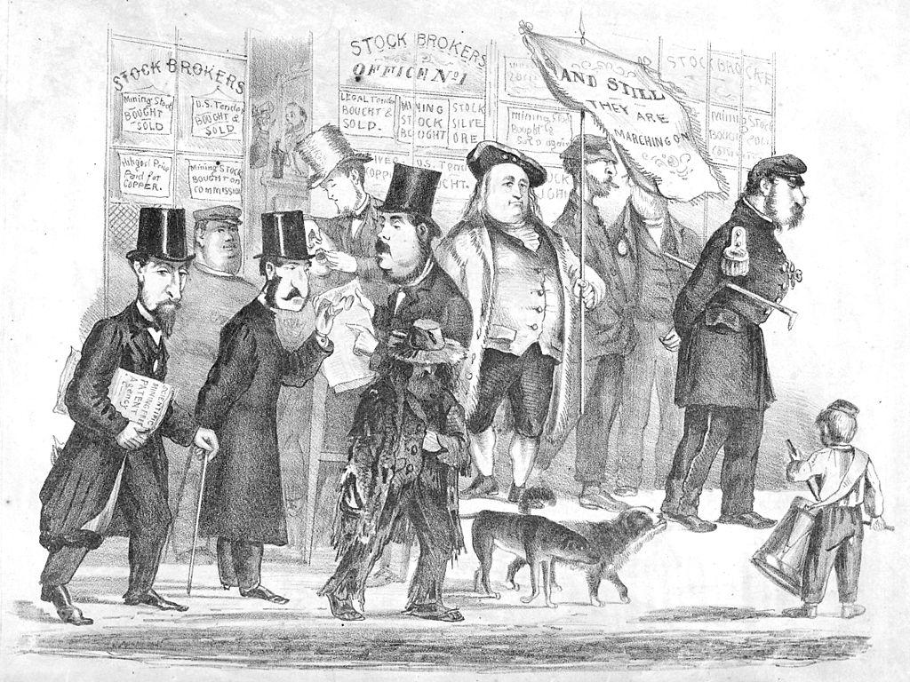 Bummer y Lazarus, el emperador Norton I y Frederick Coombs aka George Washington II. Ilustración: DP.