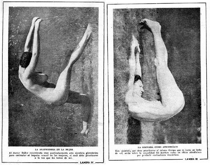 Pie: ¡Ojo! Nos dice nuestra amiga Ana Thiferet que «casi cualquier postura de yoga en pelotas bajo el sol es afrodisíaca». Y concretamente, esta mujer está haciendo una variante «raruna» de la asana 'mitad de cobra'. E insiste Ana en que, de hecho, «hay mogollón de asanas que podrían ser útiles para el sexo. Por eso de descubrir el cuerpo, disfrutarlo, relajarse…»
