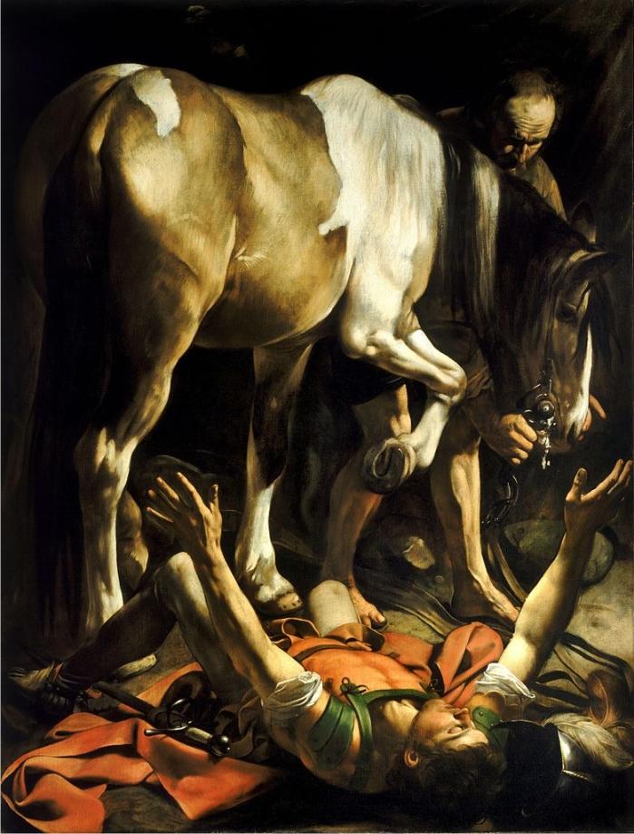 La conversión de san Pablo, por Caravaggio. (DP)
