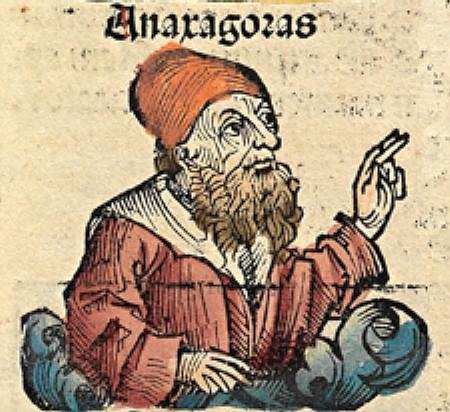 """Anáxagoras, representado con ropajes medievales en """"Las crónicas de Nüremberg"""" (1493)"""