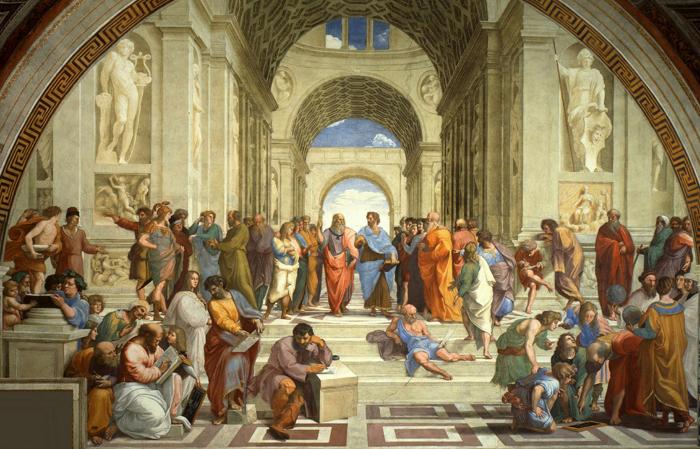 """""""La escuela de Atenas"""", Rafael, 1510-12"""