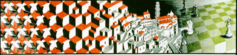 Metamorfosis III, MC Escher (detalle) como metáfora del palacio de memoria del ajedrecista