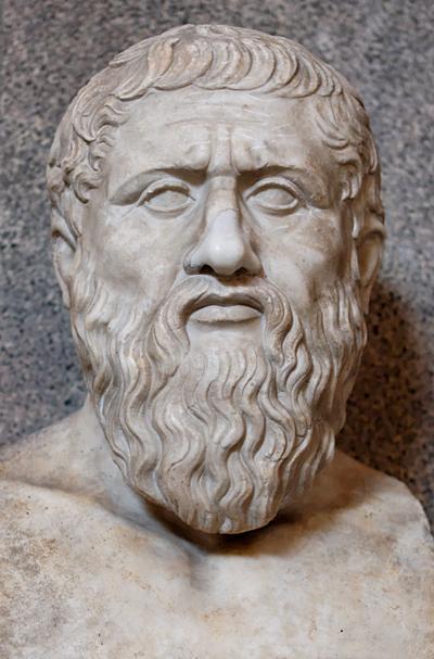Busto romano de Platón, copia de un original griego. La escuela platónica frenó el avance cosmológico. (Imagen: DP)
