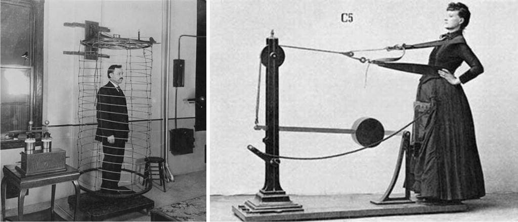 Bobinas de electroterapia y Oscilomanipulador, dos máquinas del sanatorio de Battle Creek que te deja como nuevo. (DP)