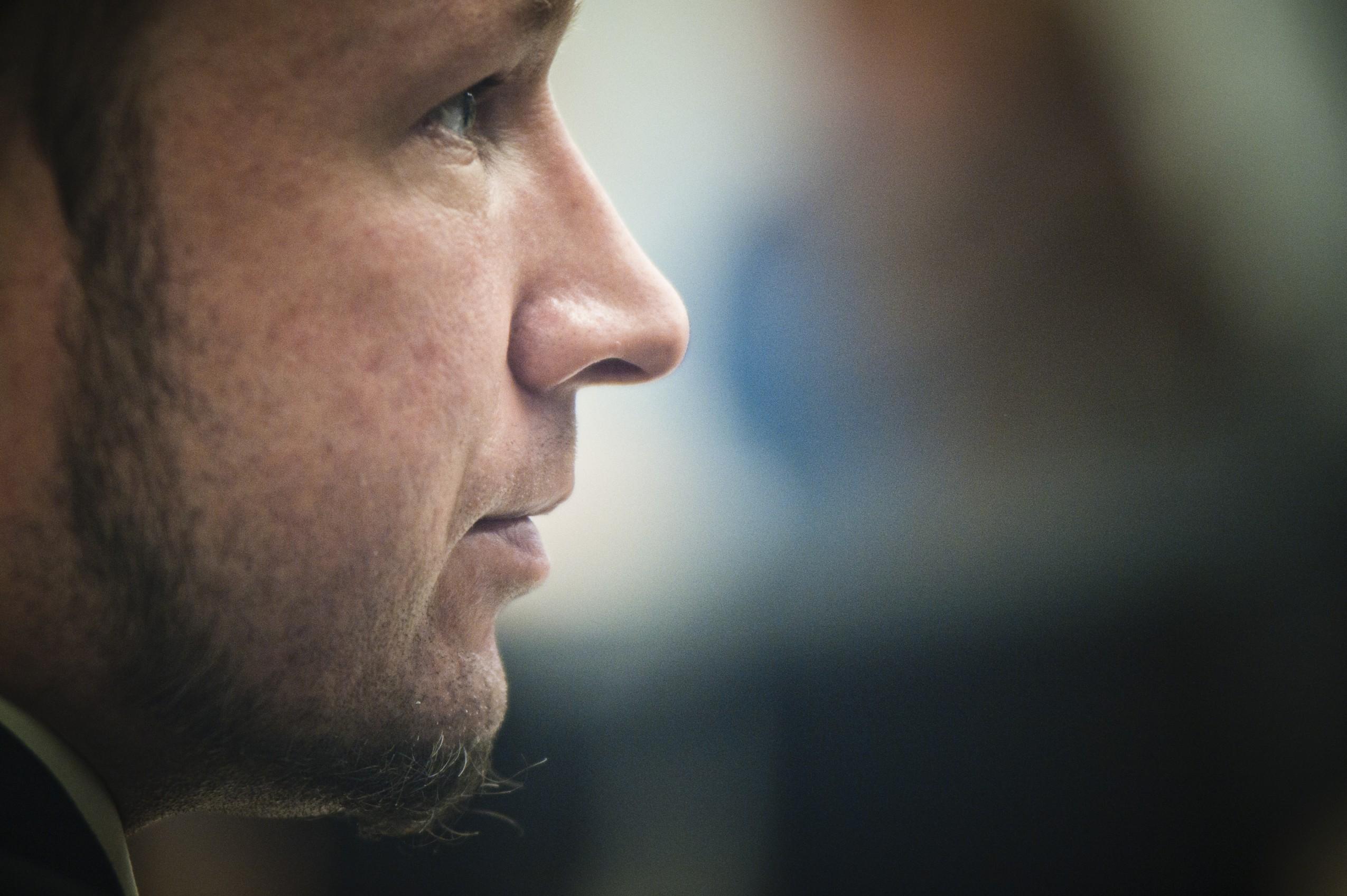 Anders Behring Breivik durante el juicio: Fotografía: Corbis