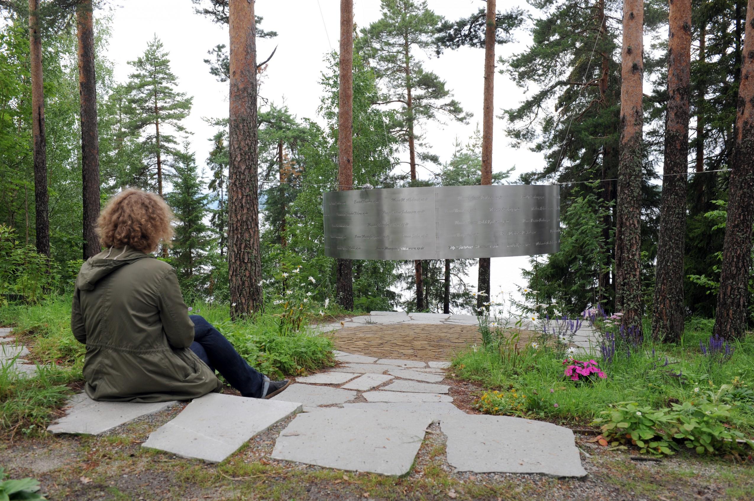 Monumento a las víctimas de Utøya. Fotografía: Corbis