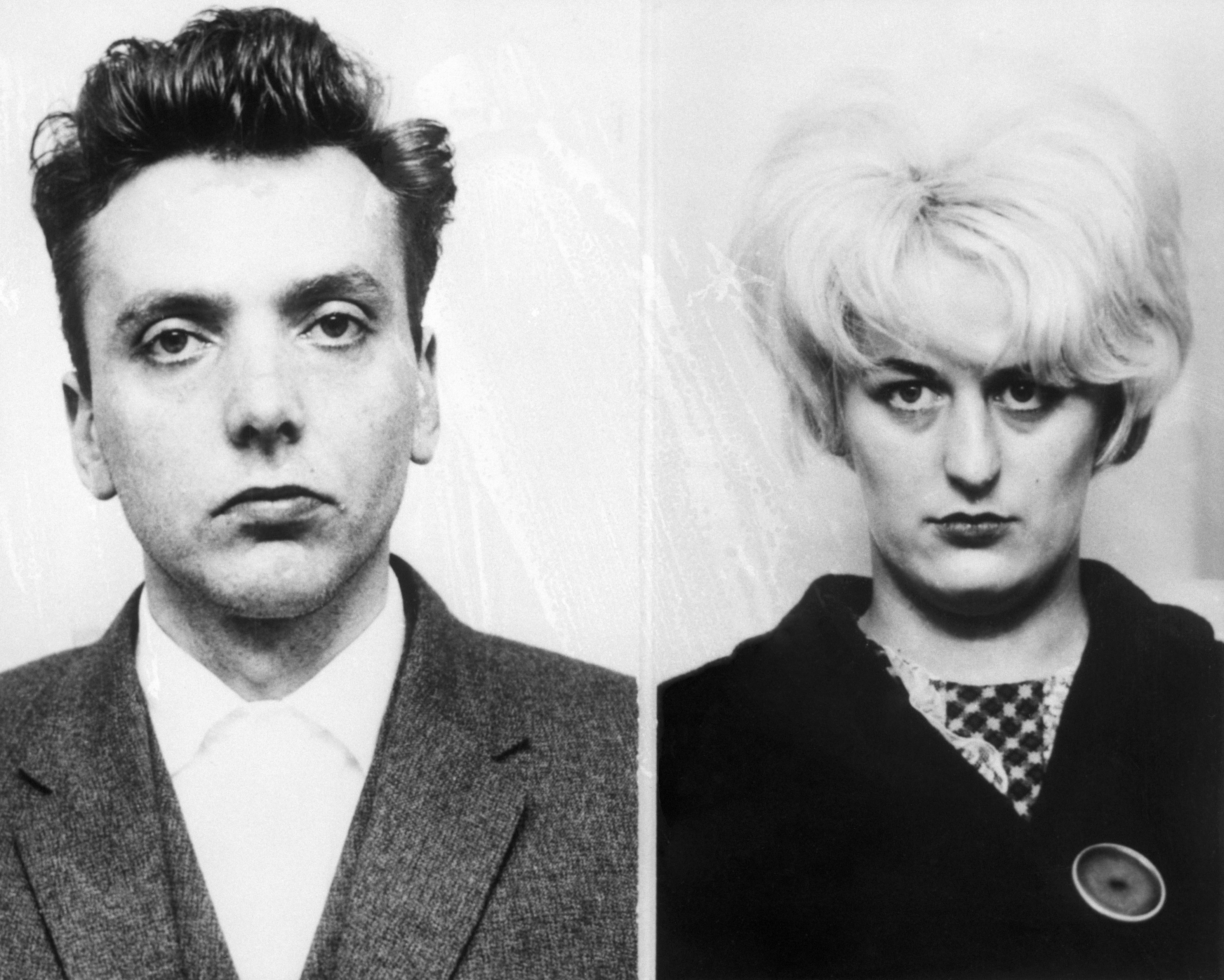 "England, UK --- Original caption: CHESTER, ENGLAND-05/06/66-: Ian Brady (left) and his blonde mistress, Myra Hindley, were found guilty May 6 here of murder, in the sensational ""Bodies of the Moor"" trial. Both were sentenced to life imprisonment. --- Image by © Bettmann/CORBIS"