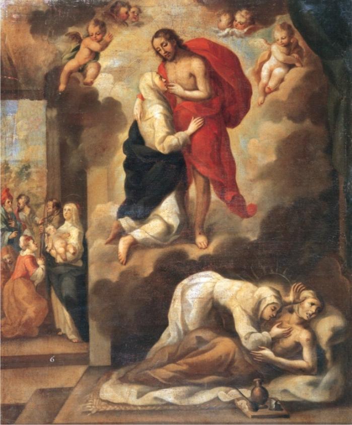 Pasaje de la vida de santa Catalina de Siena, de Cristóbal de Villalpando.