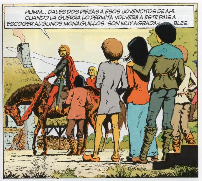 Gilles de Rais en el cómic Los viajes de Jhen, de J.Pleyers y Jaques Martin. Imagen: NetCom2 Editorial.