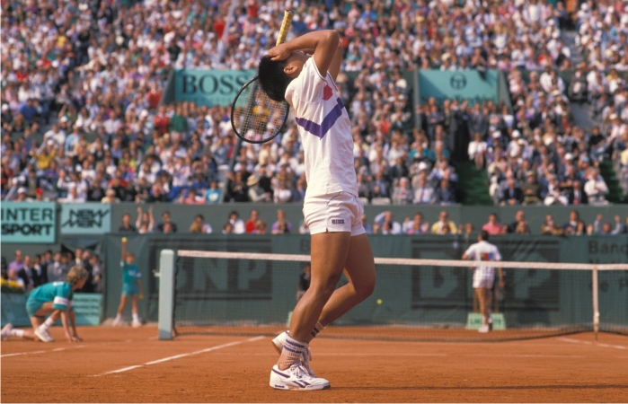 Michael Chang en la final de Roland Garros de 1989. Foto: Cordon Press.