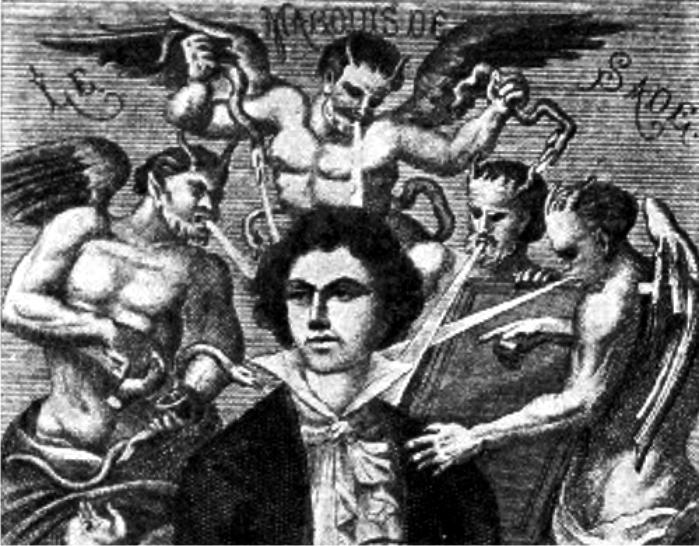 Retrato imaginario del marqués de Sade, por H. Biberstein. (DP)