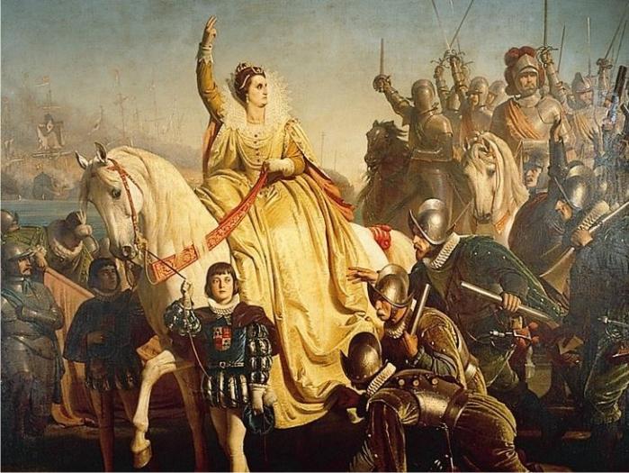 Isabel I arengando a las tropas en Tilbury. (DP)