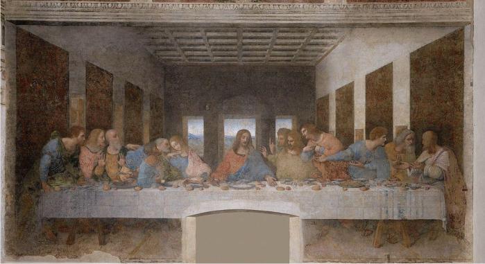 La última cena, Leonardo Da Vinci.