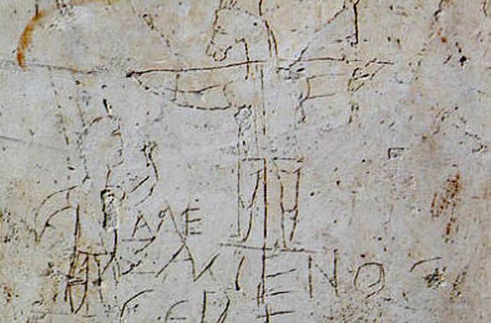 El Grafito de Alexámenos, grabado en la pared de una escuela romana, es el retrato de Jesús más antiguo que se conoce.