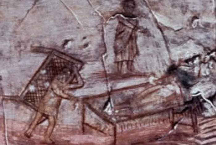 Jesús curando a un paralítico. Siglo III. (Imagen: DP)