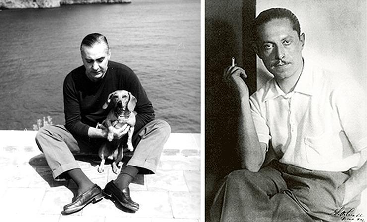 Curzio (en su casa) Malaparte y Adalberto Libera. Fotografía DP