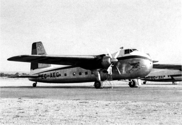 El Bristol de Aviaco que se estrelló en Somosierra. Foto: DP.