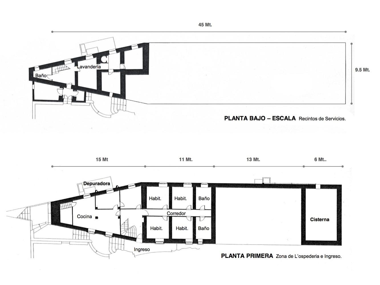 Plantas 0 y PB. Casa Malaparte. Planta Nivel 0 y 1. Imagen © Gloria Saravia. PhD Arquitecta UPC Barcelona España