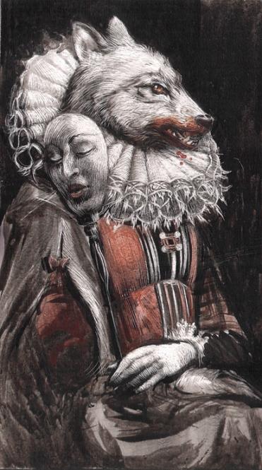 Ilustración de Santiago Caruso en el libro La condesa sangrienta. Imagen: Libros del zorro del rojo.