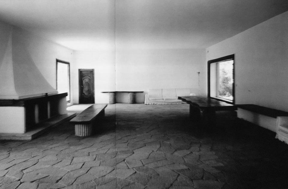 Salón principal de la Casa. Imagen: Malaparte: A house like me, de Michael McDonough. Crown Publications (2000)