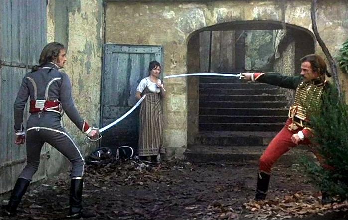 Escena de Los duelistas, película de Ridley Scott basada en un relato de Joseph Conrad. Imagen: Paramount Pictures.