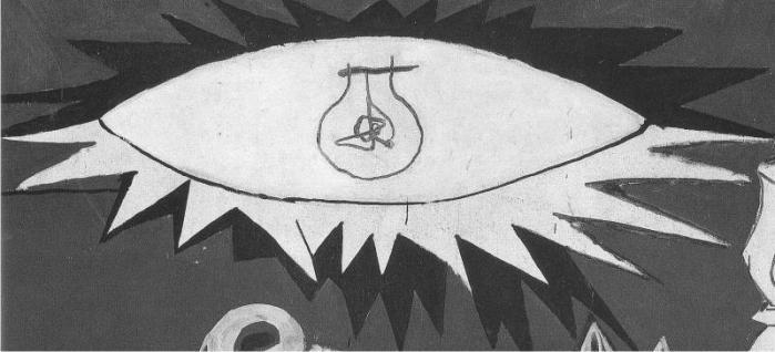 Dios o algo haciéndose pasar por Él, detalle en el Guernica de Picasso. (DP)
