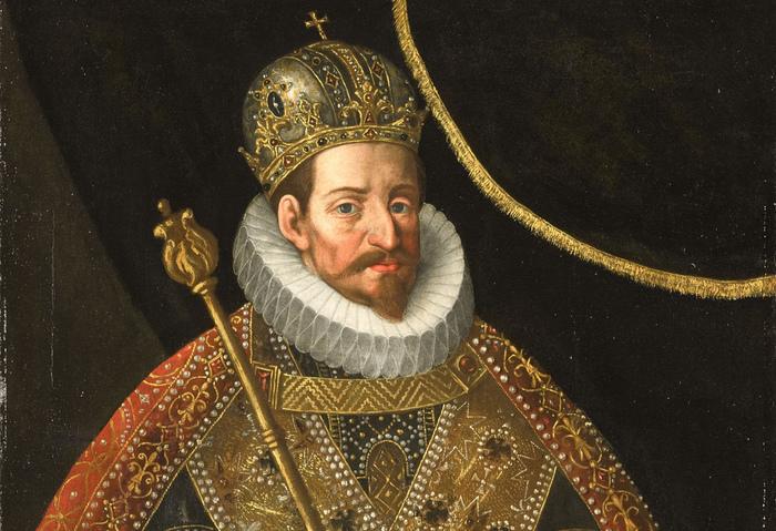 Retrato de Matías I realizado por el círculo de Hans von Anchen hacia 1600.
