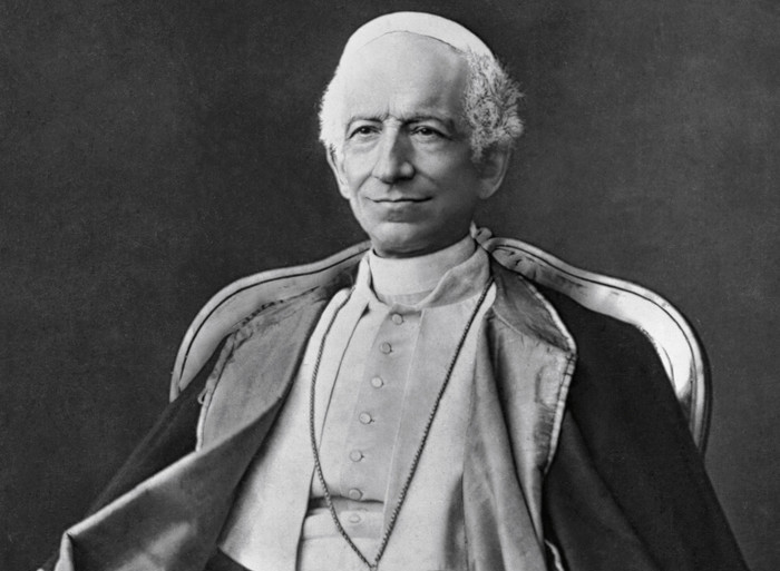 1878 --- Original caption: Pope Leo XIII. Photograph made in 1878. --- Image by © Corbis