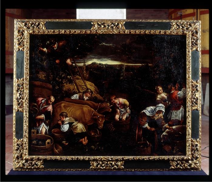 Otoño o septiembre. Óleo sobre lienzo Seguidor de los Bassano ¿España? Finales del siglo XVI - primera mitad del XVII. (DP)