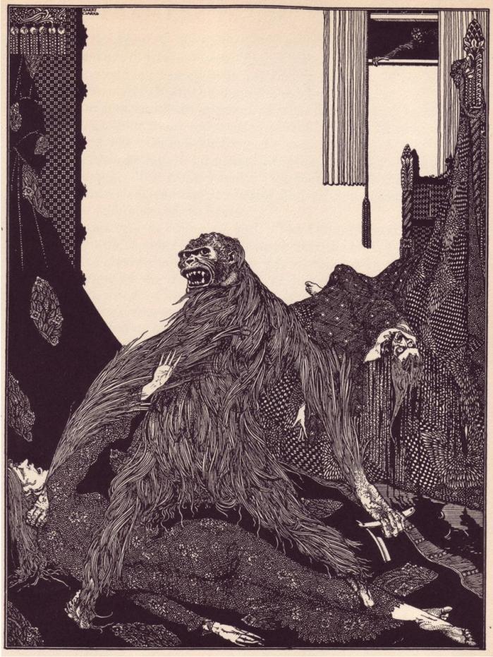 Ilustración para «Los asesinatos de la calle Morgue» por Harry Clarke. (DP)