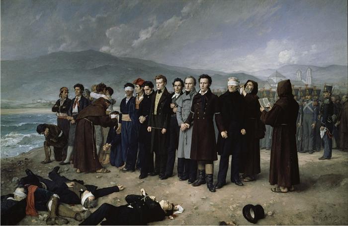 Fusilamiento de Torrijos en la playa de San Andrés, por Antonio Gisbert Pérez (DP)