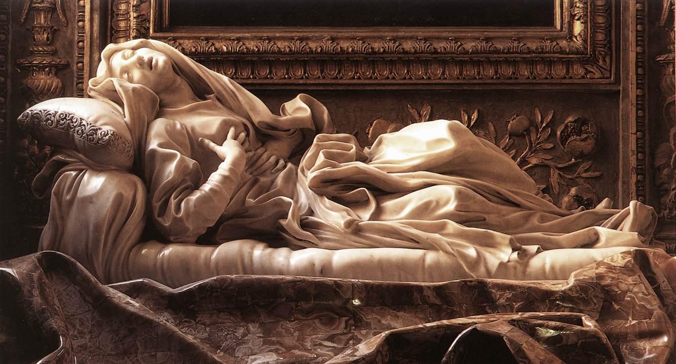 Detalle del Éxtasis de Santa Teresa (entre 1647 y 1651), de Gian Lorenzo Bernini. Fotografía: DP