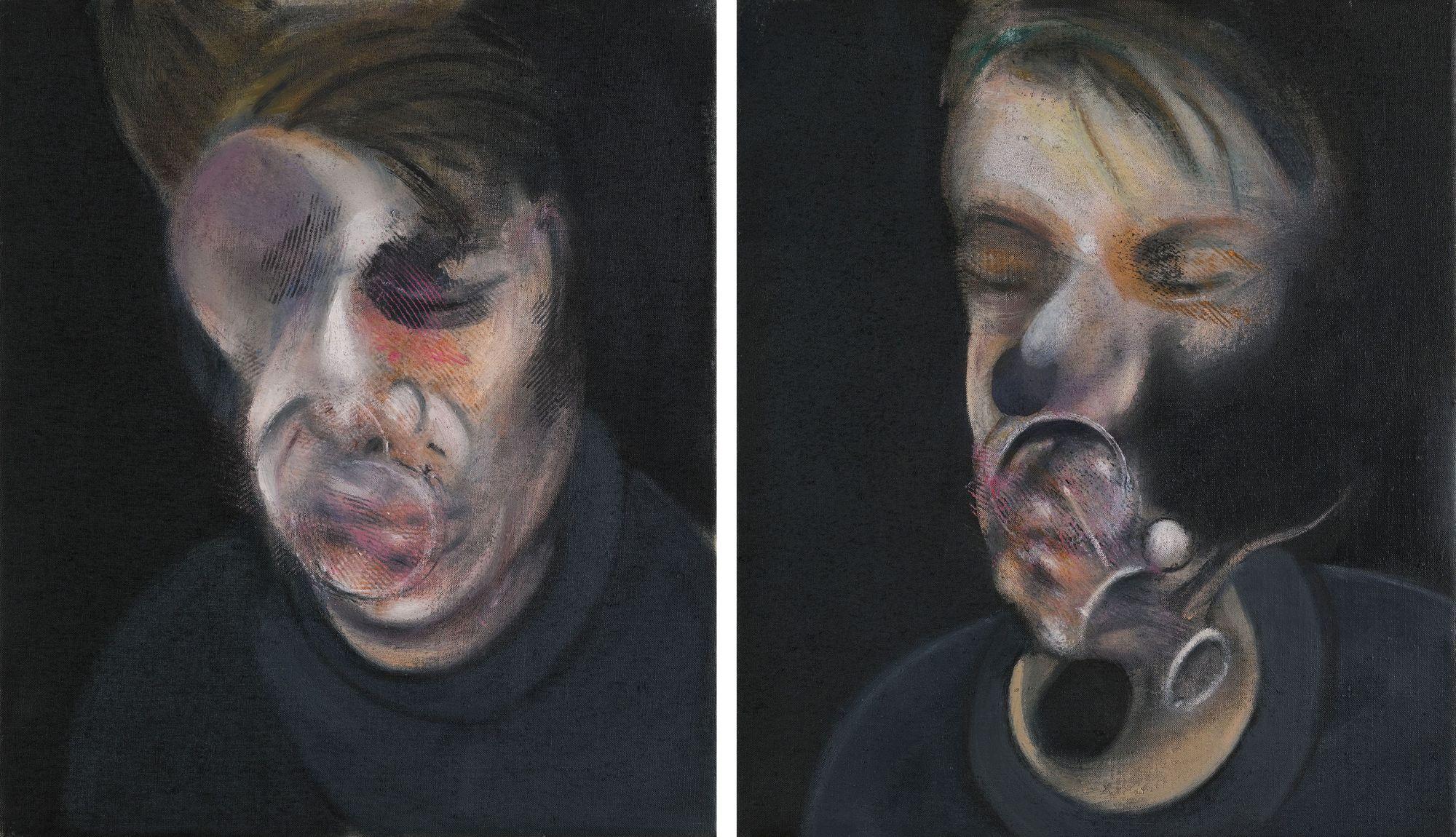 Francis Bacon, dos estudios para autorretrato (1977)