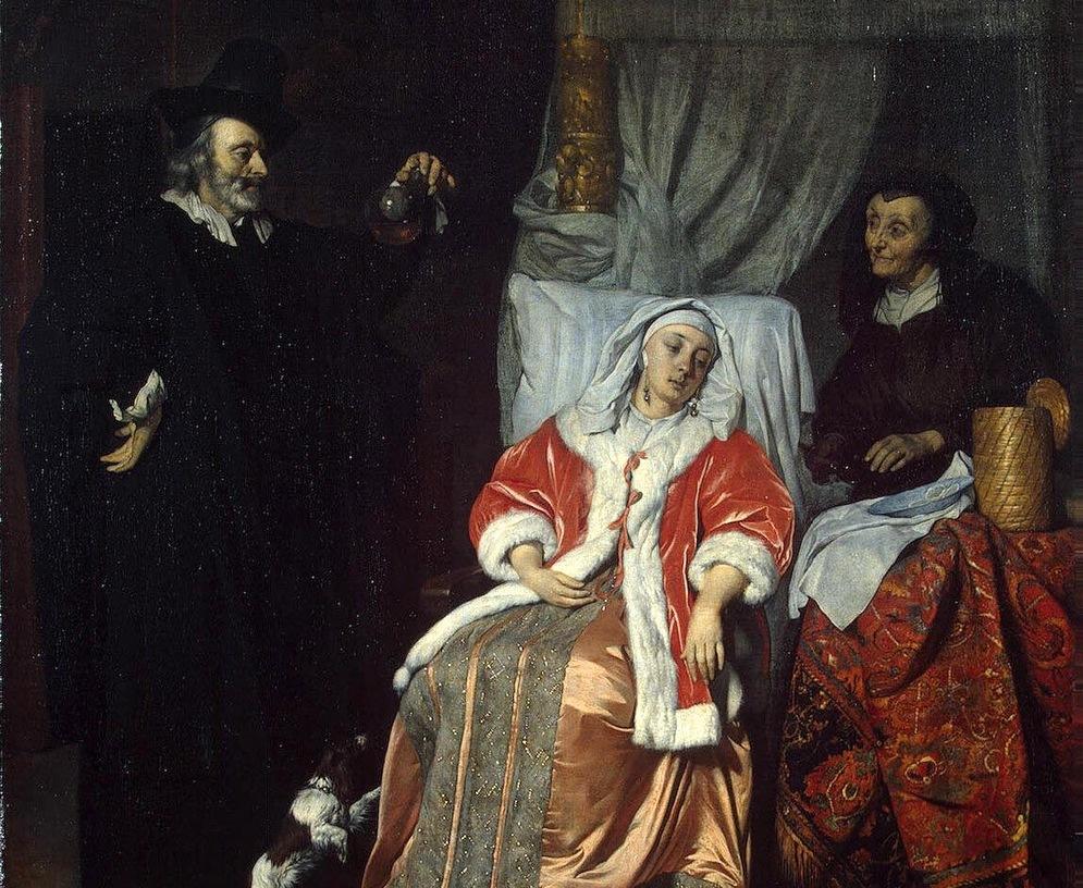 Detalle de La visita del doctor (ca. 1660-1667), de Gabriël Metsu. Fotografía: DP.