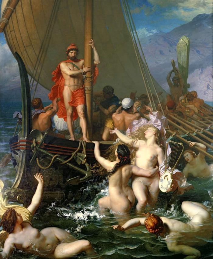 Ulises y las sirenas, de Leon Belly.