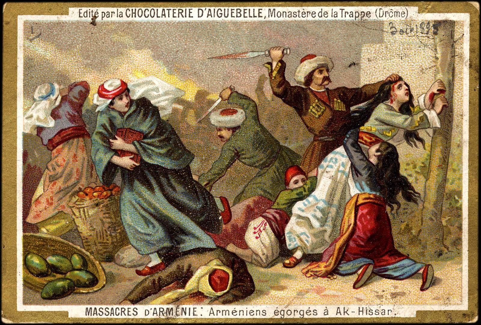 Postal ilustrada en una tableta de chocolate. Imagen: DP.