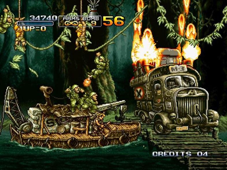 En el hermoso Metal slug 3 bastaba un único disparo para eliminar al protagonista, pero era posible continuar de manera infinita.