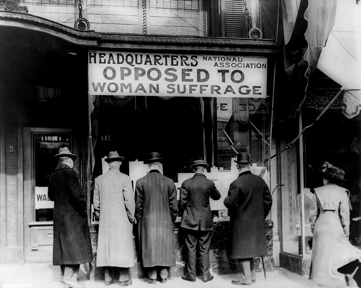 Sede de la Asociación Nacional Contra el Sufragio Femenino (1911). Fotografía: Library of Congress (DP)