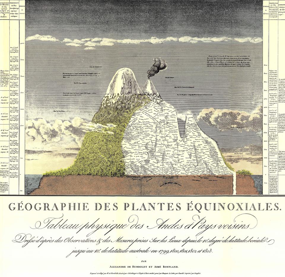 Essai sur la géographie des plantes (1805), de A. de Humboldt. Fotografía: DP.