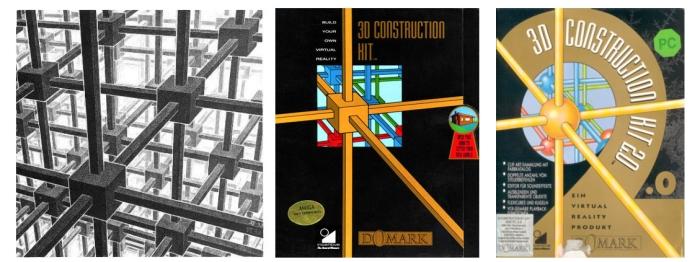 Partición cúbica del espacio (1952). 3D Consttuction kit (1991). 3D Construction kit 2 (1992).