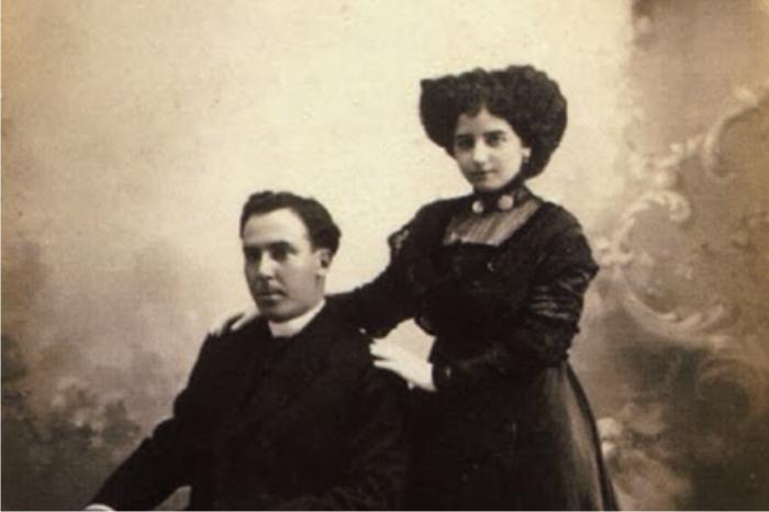 Antonio Machado con Leonor Izquierdo. Foto: DP.