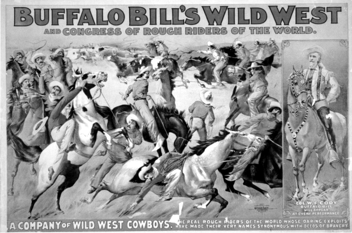 Cartel del Wild West Show de Buffalo Bill. (DP)