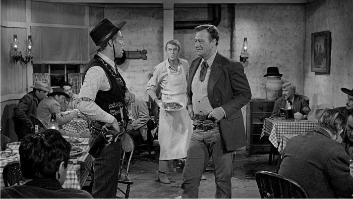 Escena de El hombre que mató a Liberty Valance. Imagen: Paramount Pictures.