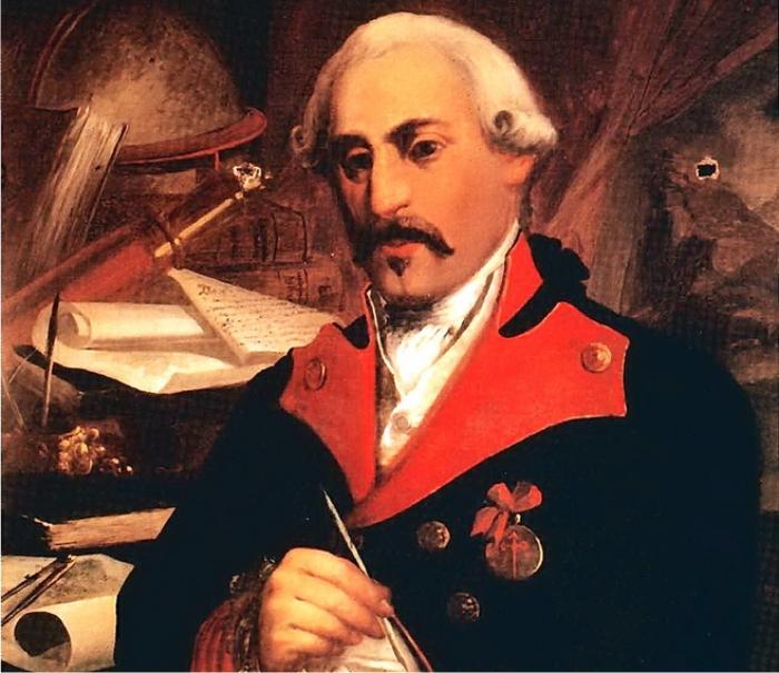 Retrato de José Cadalso, por Castas Romero. (DP)